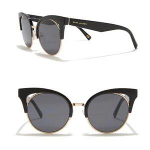 Marc Jacobs Black 51mm Cat Eye Sunglasses NEW
